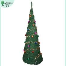 rattan cone christmas tree decorating pop up tree