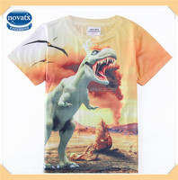(C5683) OY 2-8Y hot sell 3d boys printing 100% polyester t shirt kids summer tshirts