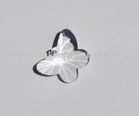 clear butterfly glass ornament
