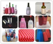 Venda quente descartável eco colorido de frutas espuma luvas para frutas frescas / garrafa de vidro / porcelana