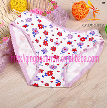 floral cotton fabric lovely shape girl's underwear