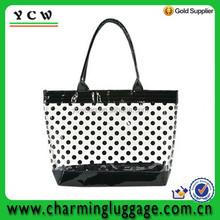 Polka Dot Women Transparent Clear Beach Casual Shoulder Bag