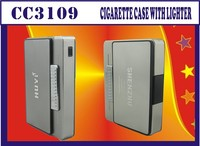 Newest factory sale promotional cigarette case with lighter