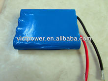 Low price!!! flat battery pack lifepo4 4s2p 12v 5Ah with A123-2500mah cell