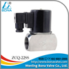 "Female 1/2"" 3/4"" 1""stainless steel ball valve 24V 220V solenoid steam valve ZCQ-22SS"
