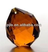 yellow crystal decorative lighting ball