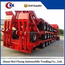 Heavy duty equipment transporter semi-trailer low bed truck trailer for sale