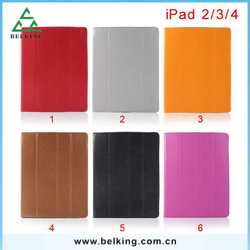 Big Promotion!!! Tri-fold Magnetic Flip Tablet Case Cover For iPad 2/3/4 PU Folio Case
