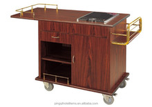 Hotel restaurant kitchen service trolley cooking cart