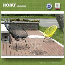Mesa cadeira do ovo de ferro barato