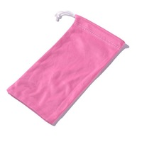 Soft Solid Color Single Rope Sunglasses Pouch
