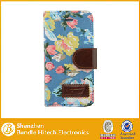 newest design PU leather hot selling wallet case for iphone 5s drop shipping
