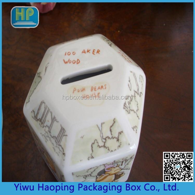 Retro irregular shape metal piggy bank money storage tin for How to open a tin piggy bank