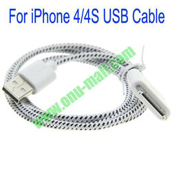 Dot design For iPhone 4/4s USB Cable with 30 Pin