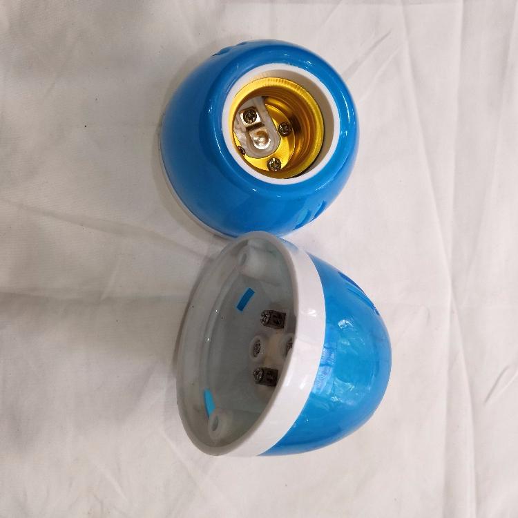 Белый синий пластиковый держатель лампы E27
