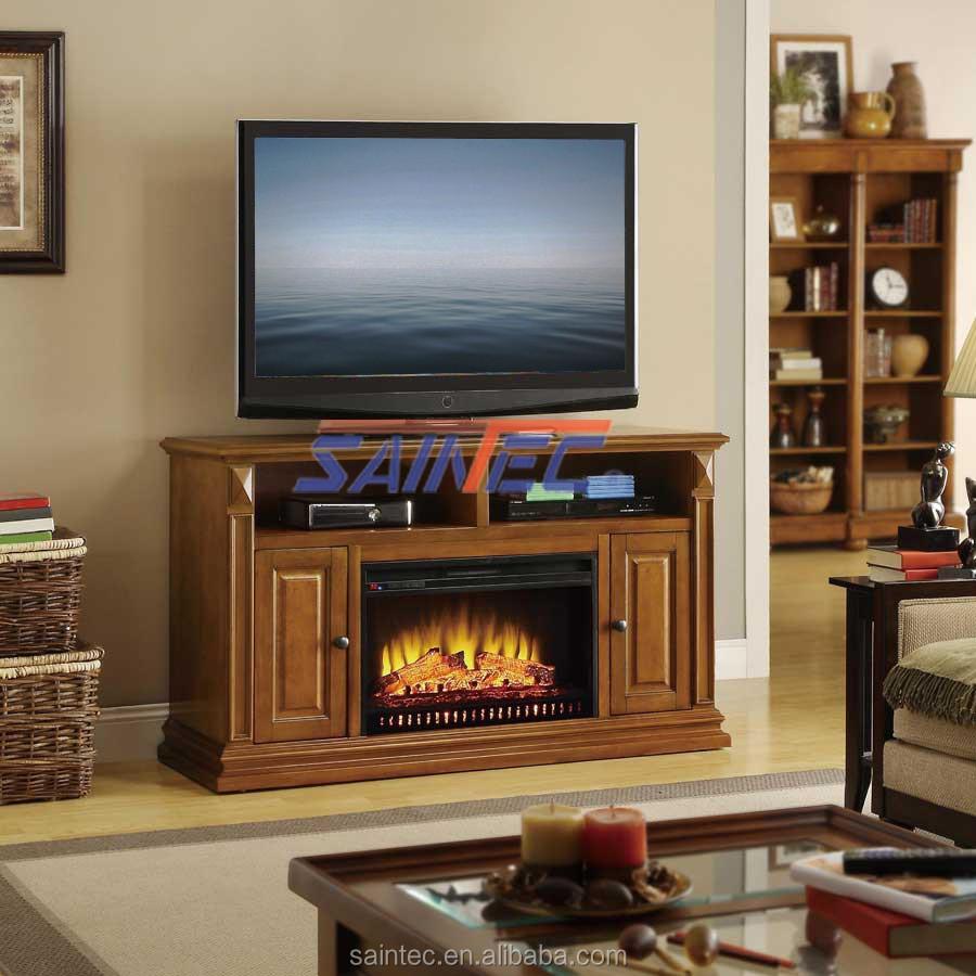 Wood Round Electric Fireplace Decorative Electric Fireplace Led Light Firepla