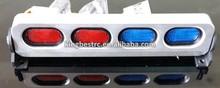 105*20*24mm RC Car Led Light Bar Aluminum Alloy Frame Support Red & Blue Lense-kbl0045