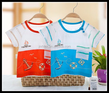 100 cotton printed baby toddler clothing short t shirt with pocket