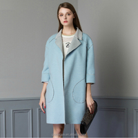 Top Fashion 2015 Luxurious Wool Overall Lady's Coat Latest Coat Designs For Women Coat Model