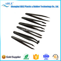 PLASTIC-615 Manufacture esd tweezer for mobile laptop computer repair tools, cheap anti-static tweezers