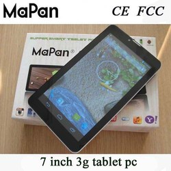 Shenzhen tablet pc mtk8312 dual sim card android phone, super smart mapan android tablet pc