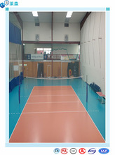 Indoor Usage and Plastic Flooring Type volleyball sports floor pvc flooring for volleyball court