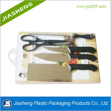 Dongguan high quality clear blister packaging for kitchen scissors with knife
