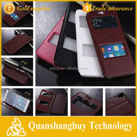 China Supplier New Double View Window Stand PU Leather Flip Case For HTC Desire 826 Case
