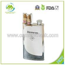 4oz Novelty Hennessy stainless steel cigar flask