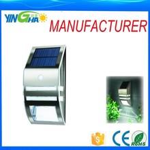 Solar exterior iluminación del Sensor de movimiento de luz ( plata ) artículo YH0607