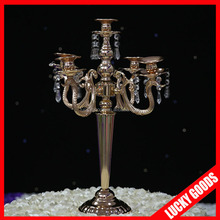 wholesale 55cm fashionable wedding gold candelabra for table top