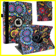Customize Colorful Pattern Printing Sublimation Rotating for ipad air 2 Case PU Leather Rotating Printer image DIY Manufacturer