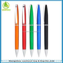 Hot sales promotional plastic pen twist mechanism with metal clip