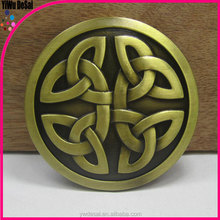 Wholesale fashion knot belt buckle, golden metal belt buckle
