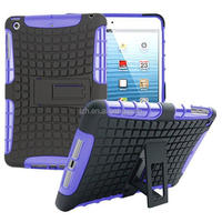 Hybrid 2 in 1 kickstand PC+TPU cover case for Apple iPad Mini 1 2 3