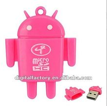 2012 new stylish Cute Android Robot Doll Mini Card Reader