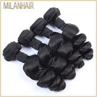 Machine Made Strong Weft Full Cuticle High Quality Cutting From Young Girl 5a Virgin Hair Brazilian Loose Big Wave
