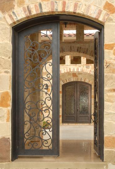 Barato porta de ferro forjado e ferro forjado e porta de for International decor doors
