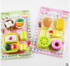 wholesale new 2015 Cute cartoon food modelling originality rubber eraser