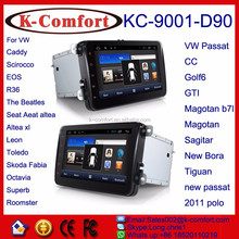 K-comfort Android vw passat b7 car gps navigation with SWC GPS +Radio +RDS BT+SD +USB CD/DVD IPOD Aux-in