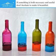wine bottle tea light candle holder; decorative candle holder