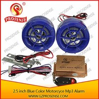 High Quality Hot Sale 12V motorcycle anti-theft mp3 alarm
