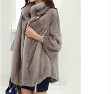 WINTER WARM SMOOTH GLOSSY THICK FUR COAT FOR LADY