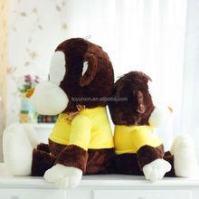 New toys promotional fashion yellow monkey plush toy,plush monkey