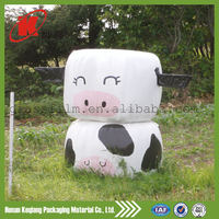 hay bale packaging plastic protective silage wrap film white
