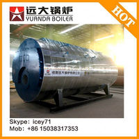 2015 Hot Sale!! wns series wet back three pass steam boiler for cooking