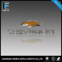 Famous 3d self-adhesive ABS plastic chrome car logo,car logo