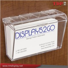 Wholesales Single Pocket Wall Monuted Acrylic Business Card Holders for Office