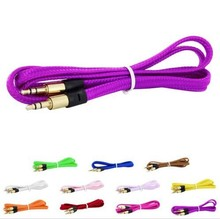 Braid 3.5mm Male to Male Earphone Headphone Extension Cord Audio Cable Adapter
