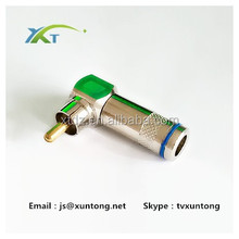 """Adapter Connector 3.5mm 1/8"""" Mono Male plug to F-Type F Female jack"""